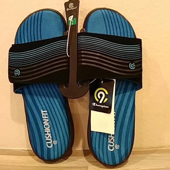 8e1b758a8c78f Champion Sandals Cushion Boys Size 6 XL Flip Flops